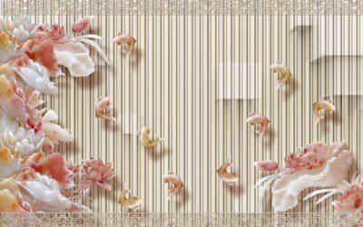 3D flower-1 for walls