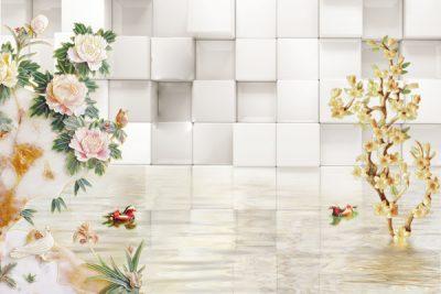 3D flower-11 for walls