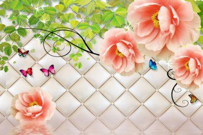 3D flower-3 for walls