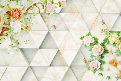 3D flower-6 for walls