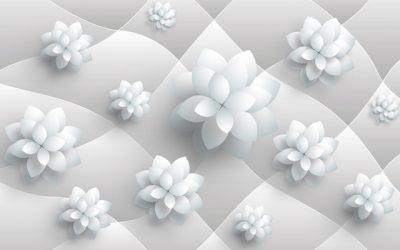 3D flower-8 for walls