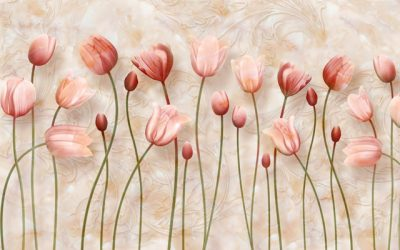 Beauty of flower for walls