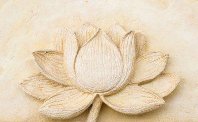 Embossed flower for walls