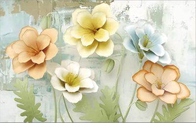 3D flower for walls